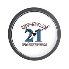 Cute 21 year old designs Wall Clock