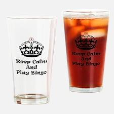 Keep Calm Play Bingo Drinking Glass
