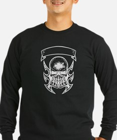 Hole In Head Skull Long Sleeve T-Shirt