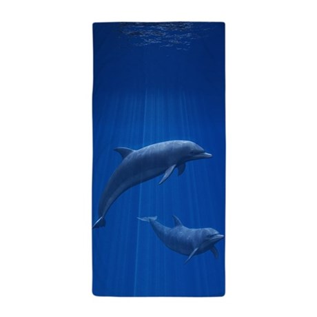 Dolphin Couple Beach Towel