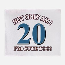 Cute 20 year old designs Throw Blanket