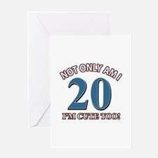 Cute 20 year old designs Greeting Card