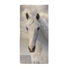 Sparkling White Horse Beach Towel