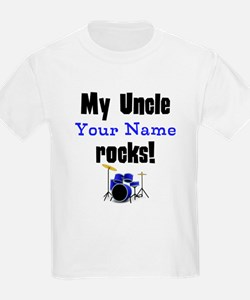 My Uncle (Your Name) Rocks T-Shirt