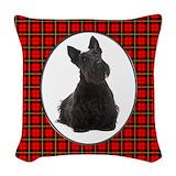 Scottish terrier Woven Pillows