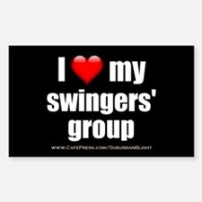 """Love My Swingers' Group"" Sticker (Rectangle)"