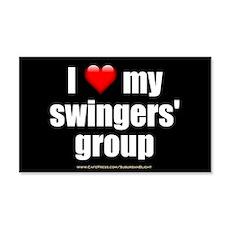"""Love My Swingers' Group"" Wall Decal"