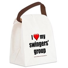 """Love My Swingers' Group"" Canvas Lunch Bag"