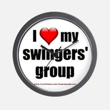 """Love My Swingers' Group"" Wall Clock"