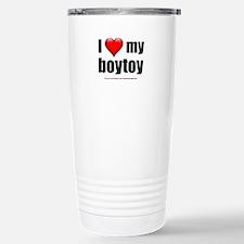 """Love My Boytoy"" Stainless Steel Travel Mug"