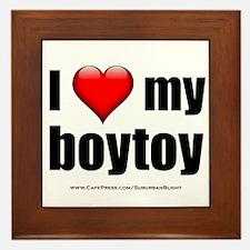 """""""Love My Boytoy"""" Framed Tile"""