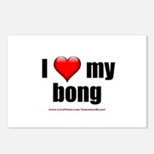 """I Love My Bong"" Postcards (Package of 8)"
