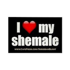 I Love My Shemale 3x5.jpg Rectangle Magnet