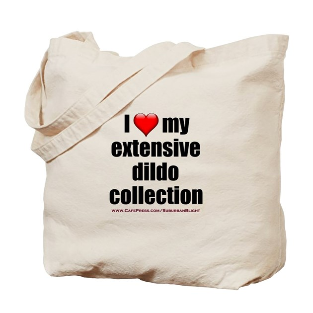 """I Love My Dildo Collection"" Tote Bag by SuburbanBlight"