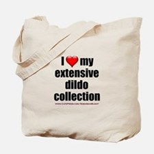 """""""I Love My Dildo Collection"""" Tote Bag"""