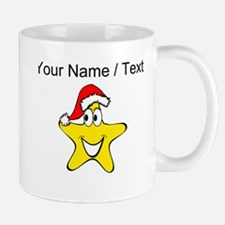 Custom Santa Hat Star Cartoon Mugs