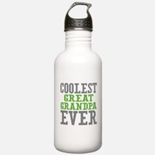 Coolest Great Grandpa Ever Water Bottle