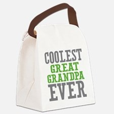 Coolest Great Grandpa Ever Canvas Lunch Bag