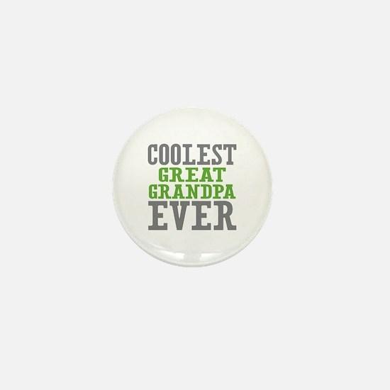 Coolest Great Grandpa Ever Mini Button