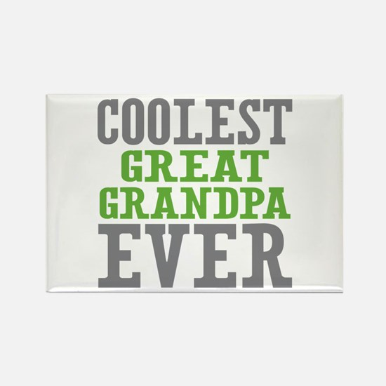 Coolest Great Grandpa Ever Rectangle Magnet