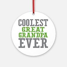 Coolest Great Grandpa Ever Ornament (Round)