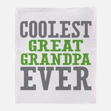 Coolest Great Grandpa Ever Throw Blanket