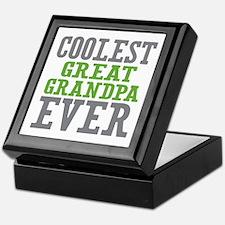 Coolest Great Grandpa Ever Keepsake Box