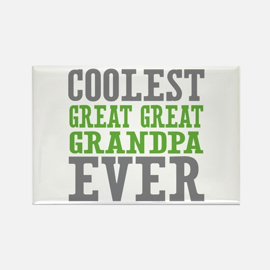 Coolest Great Great Grandpa Ever Rectangle Magnet