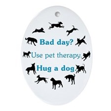 Pet Therapy Ornament (Oval)
