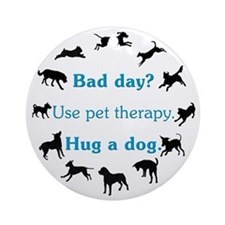 Pet Therapy Ornament (Round)