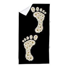 Daisy Footprints Beach Towel
