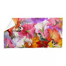 Hibiscus Butterflies Beach Towel