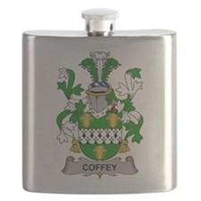Coffey Family Crest Flask