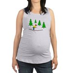 Skiing Maternity Tank Top