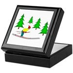Skiing Keepsake Box