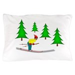 Skiing Pillow Case