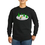 Skiing Long Sleeve Dark T-Shirt