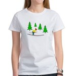 Skiing Women's T-Shirt