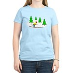 Skiing Women's Light T-Shirt