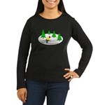 Skiing Women's Long Sleeve Dark T-Shirt