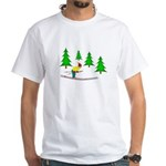 Skiing White T-Shirt