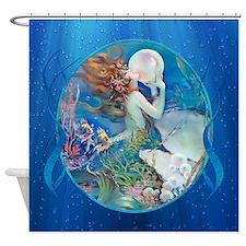 Clive Sensual Erotic Pearl Mermaid Shower Curtain