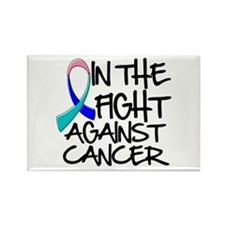 In the Fight Thyroid Cancer Rectangle Magnet