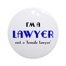 Just A Lawyer Ornament (Round)