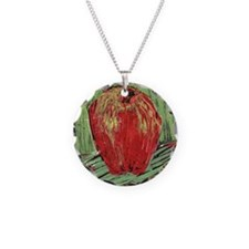 Painterly Apple Necklace