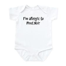 Allergic to Pinot Noir Infant Bodysuit