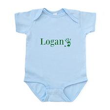 Green Logan Name Body Suit