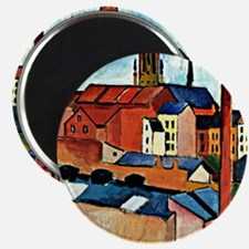 August Macke - St. Mary's with Houses and C Magnet