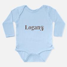 Brown Logan Name Body Suit