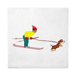 Dog Skijoring Queen Duvet